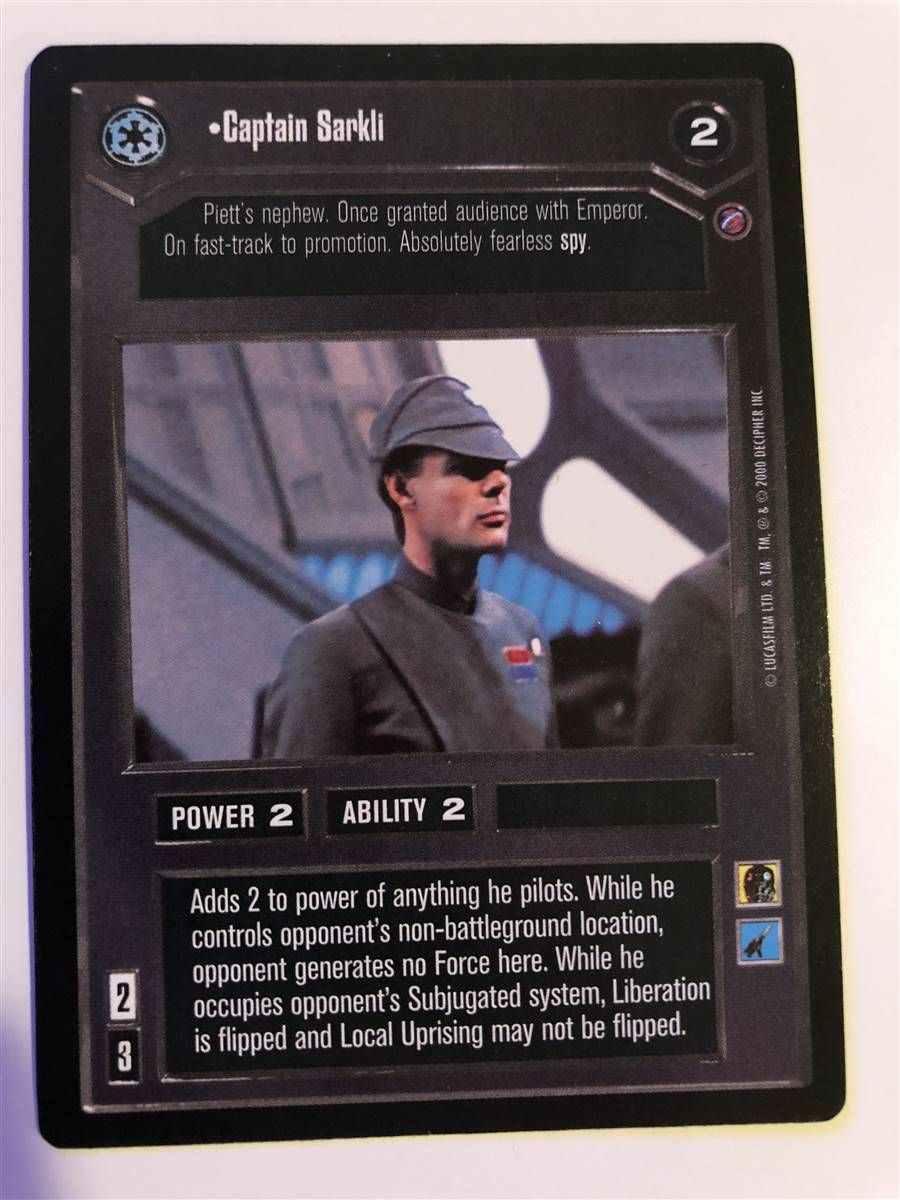 Star Wars CCG Death Star II 2 Captain Sarkli SWCCG