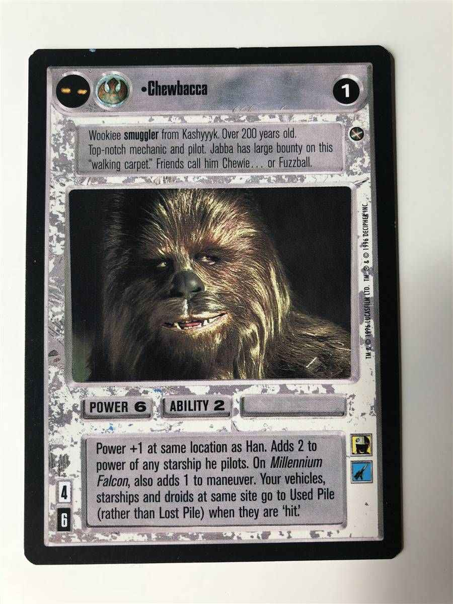 Star Wars CCG SWCCG Millennium Falcon Premiere Rare Card Collection Unlimited