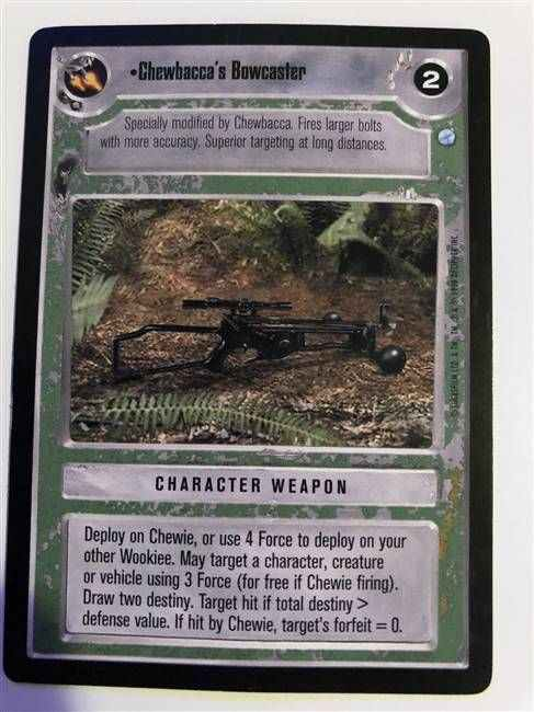 Star Wars CCG (SWCCG) Chewbacca's Bowcaster