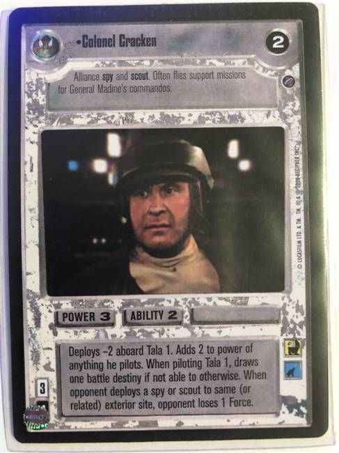 Star Wars CCG (SWCCG) Colonel Cracken