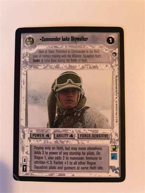 Star Wars CCG (SWCCG) Commander Luke Skywalker