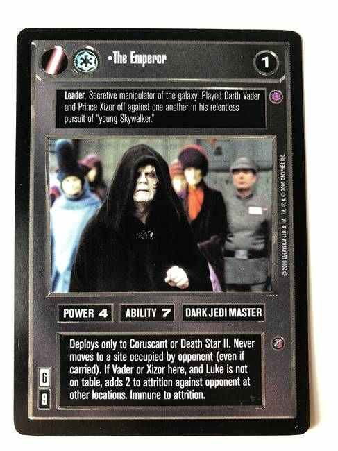 Star Wars CCG (SWCCG) The Emperor