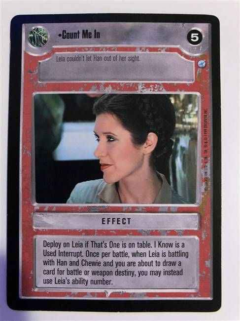 Star Wars CCG (SWCCG) Count Me In