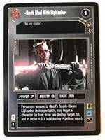 Star Wars CCG (SWCCG) Darth Maul With Lightsaber