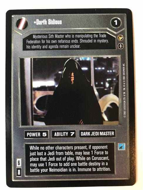 Star Wars CCG (SWCCG) Darth Sidious