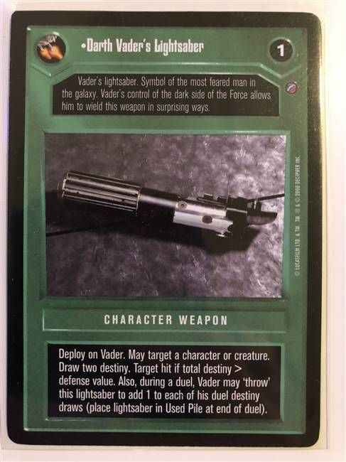 Star Wars CCG (SWCCG) Darth Vader's Lightsaber