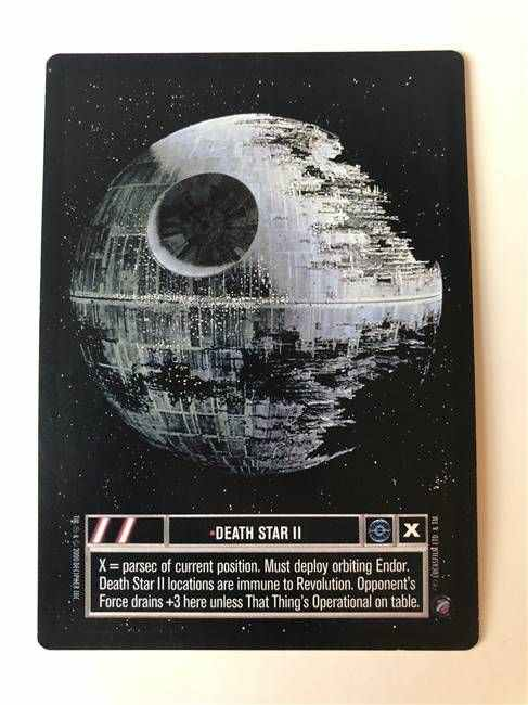 Near Mint DEATH STAR II star wars ccg swccg Independence