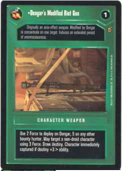 Star Wars CCG (SWCCG) Dengar's Modified Riot Gun