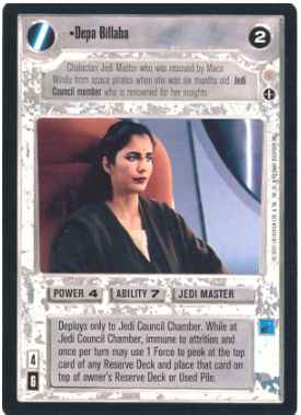 Star Wars CCG (SWCCG) Depa Billaba