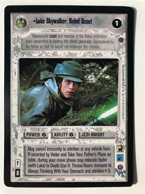 Star Wars CCG (SWCCG) Luke Skywalker, Rebel Scout