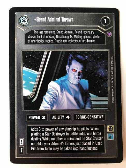 Star Wars CCG (SWCCG) Grand Admiral Thrawn