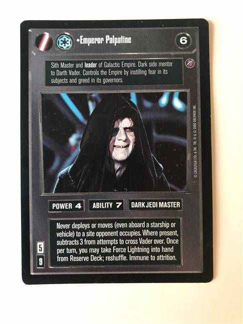 Star Wars CCG (SWCCG) Emperor Palpatine