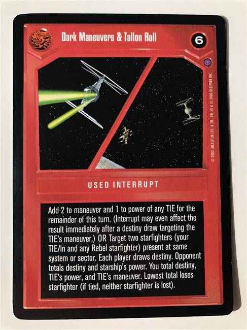 Star Wars CCG (SWCCG) Dark Maneuvers & Tallon Roll