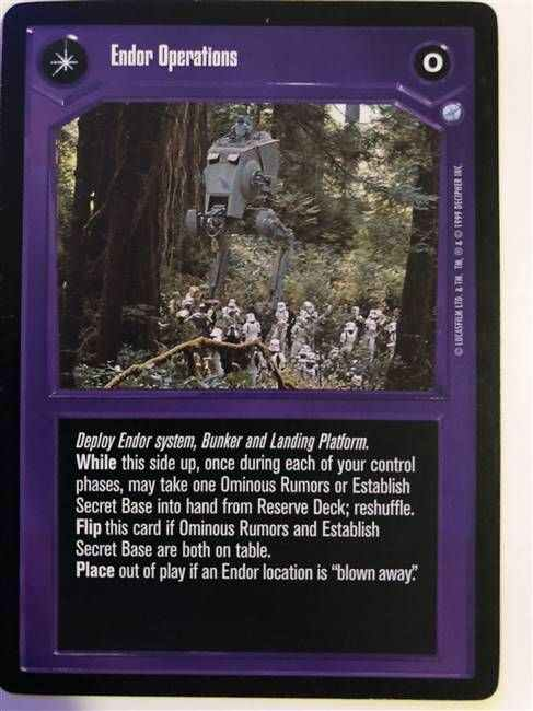 Star Wars CCG (SWCCG) Endor Operations/Imperial Outpost