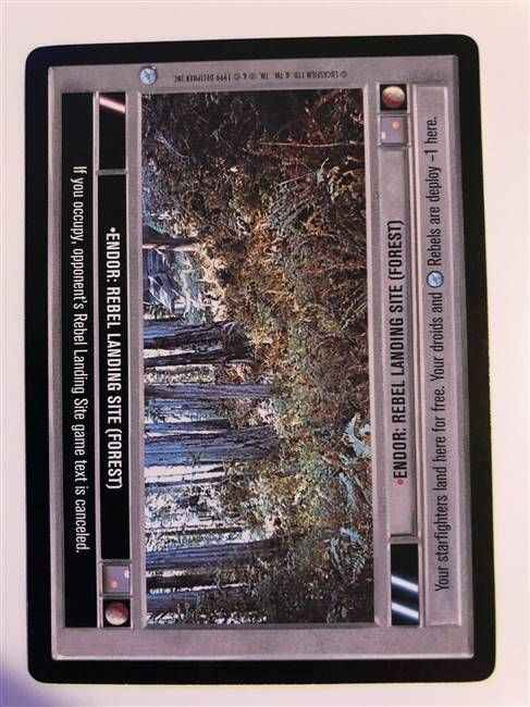 Star Wars CCG (SWCCG) Endor: Rebel Landing Site (Forest)