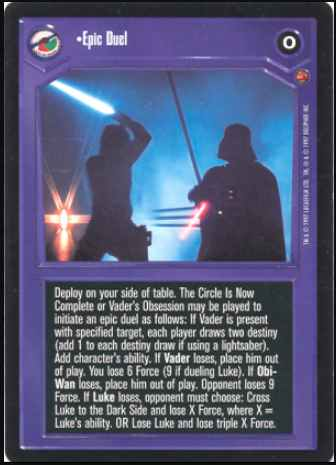 Star Wars CCG (SWCCG) Epic Duel