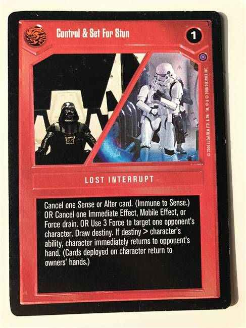Star Wars CCG (SWCCG) Control & Set For Stun