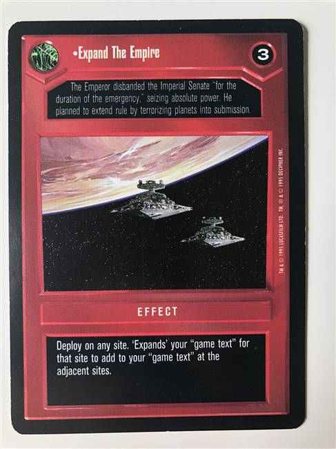 Star Wars CCG (SWCCG) Expand The Empire