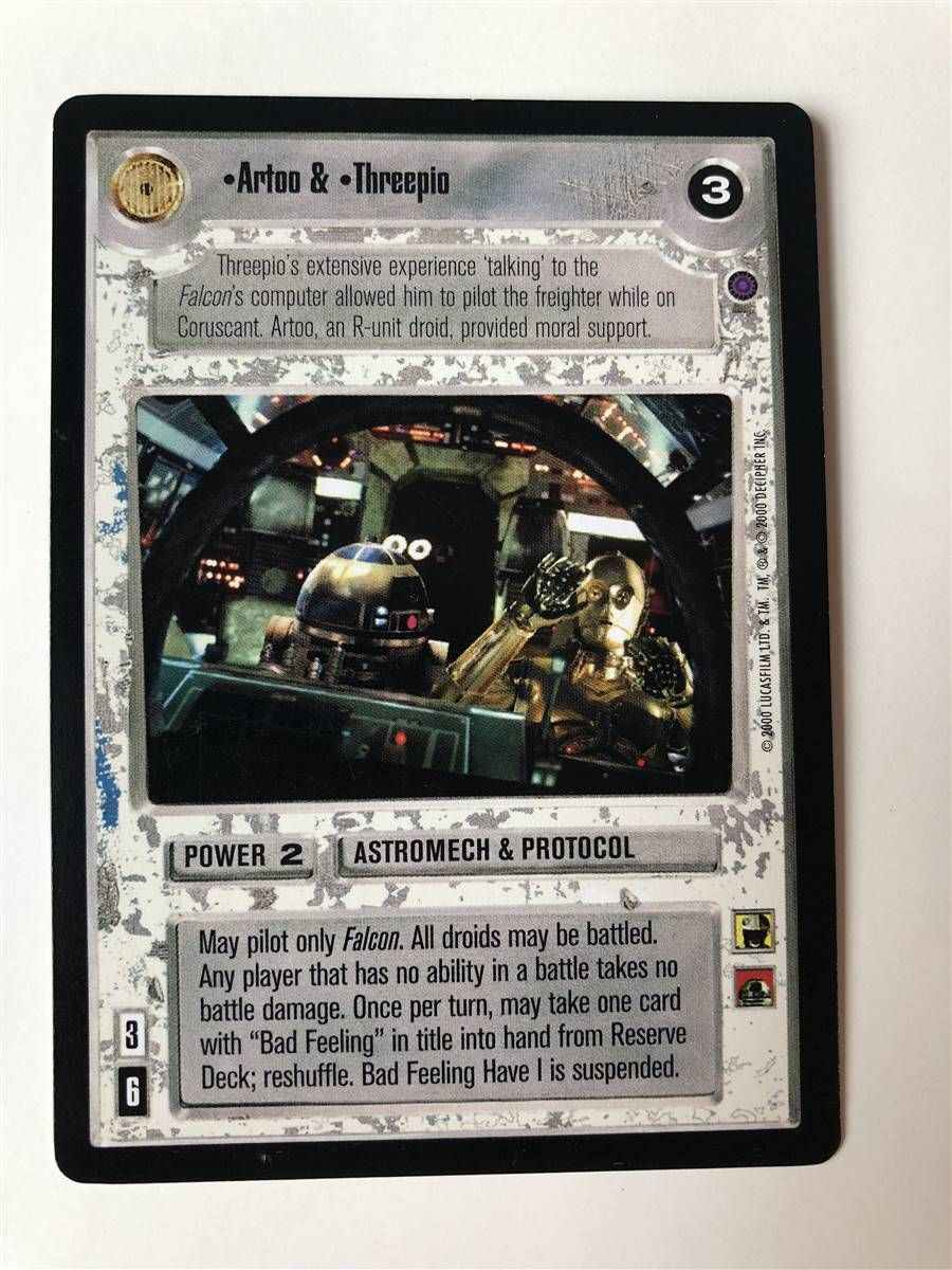 REFLECTIONS II star wars ccg swccg Near Mint Control /& Tunnel Vision