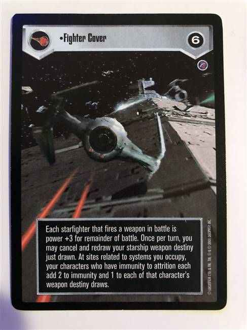 Star Wars CCG (SWCCG) Fighter Cover