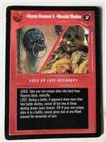 Star Wars CCG (SWCCG) Abyssin Ornament & Wounded Wookiee
