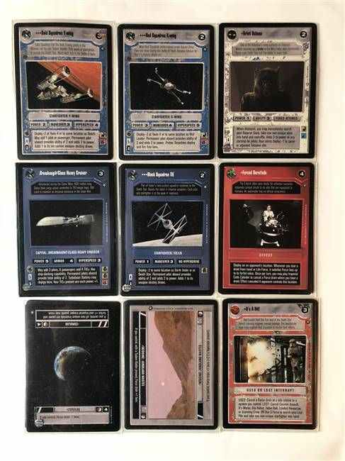 Star Wars CCG (SWCCG) Official Tournament Sealed Deck - OTSD Complete Set (Opened)