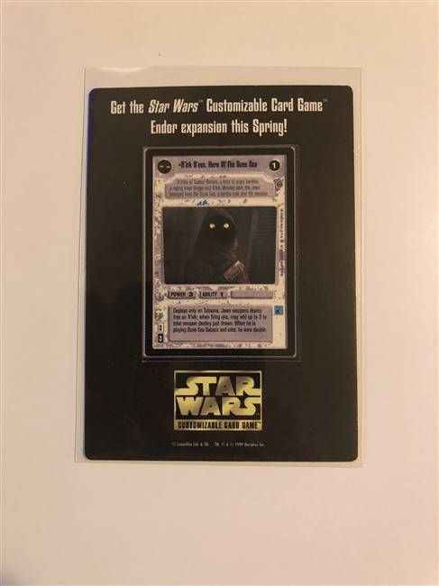 Star Wars CCG (SWCCG) R'kik D'nec Hero of the Dune Sea Endor Promo Mini Card