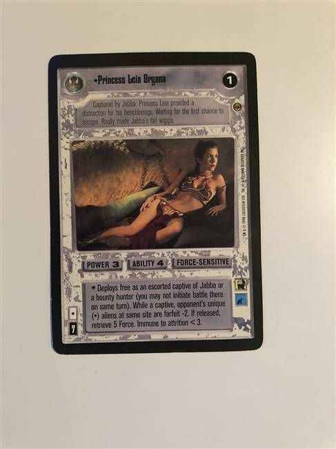 Star Wars CCG (SWCCG) Princess Leia Organa Oversized Promo Card