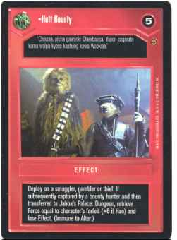 Star Wars CCG (SWCCG) Hutt Bounty
