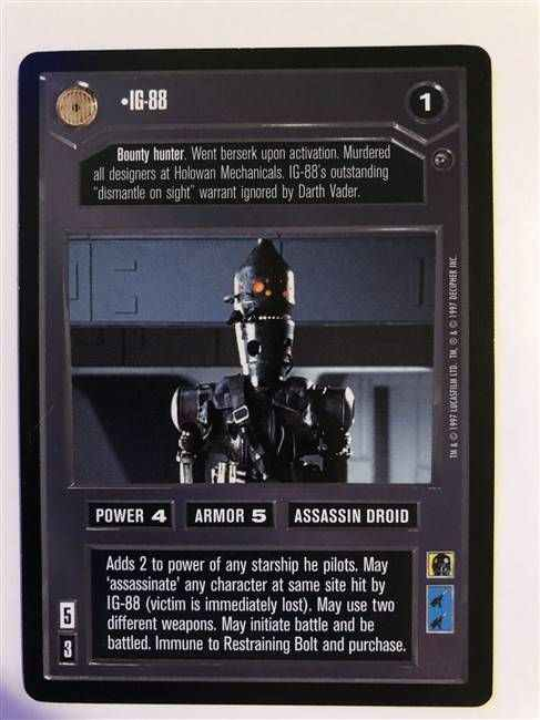 Star Wars CCG (SWCCG) IG-88