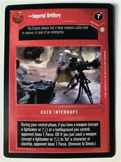 Star Wars CCG (SWCCG) Imperial Artillery