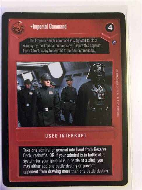 Star Wars CCG (SWCCG) Imperial Command