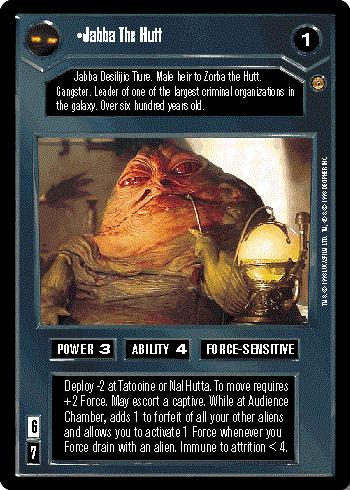 Star Wars CCG (SWCCG) Jabba the Hutt