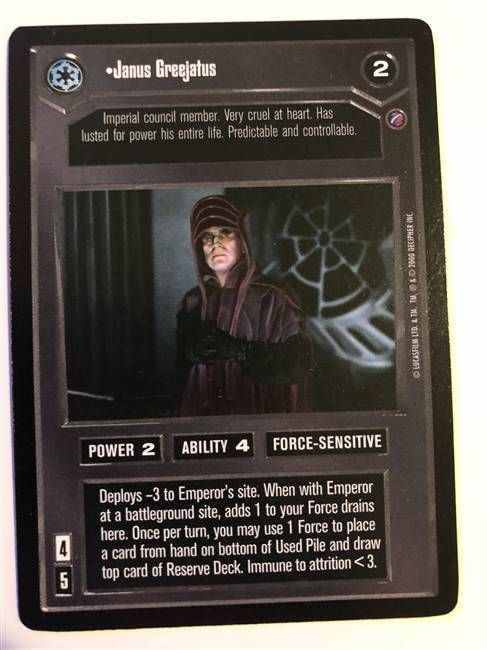 Star Wars CCG Death Star II We/'re In Attack Position Now NrMint-MINT SWCCG