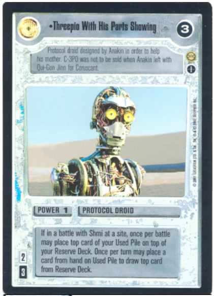 Star Wars CCG (SWCCG) Threepio With His Parts Showing (AI Foil)