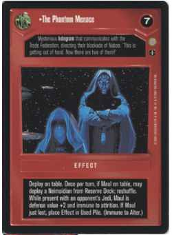Star Wars CCG (SWCCG) The Phantom Menace (AI Foil)