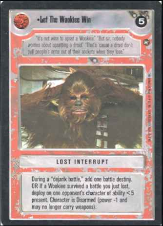 Star Wars CCG (SWCCG) Let The Wookiee Win
