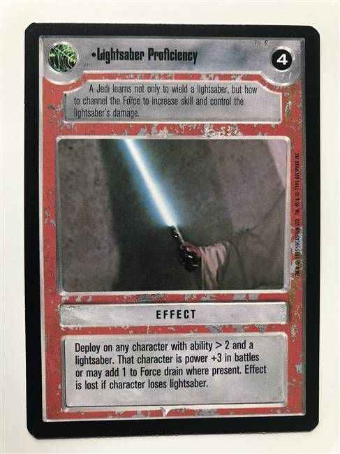 Star Wars CCG (SWCCG) Lightsaber Proficiency