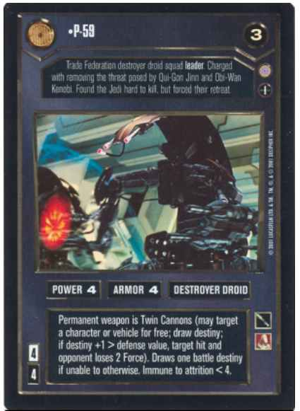 Star Wars CCG (SWCCG) P-59 (Foil)