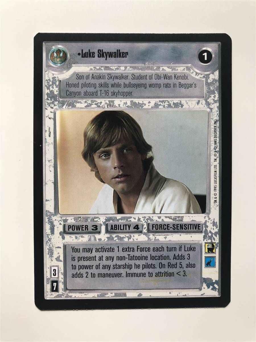 Star Wars CCG Premiere 2 Player Exclusive Card Luke