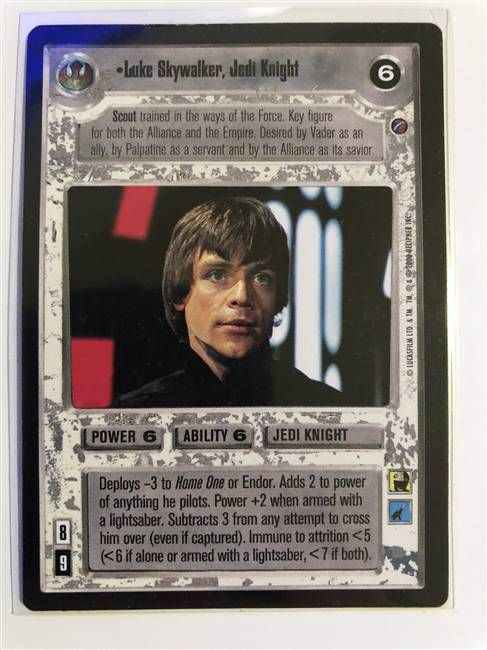 Star Wars CCG (SWCCG) Luke Skywalker, Jedi Knight