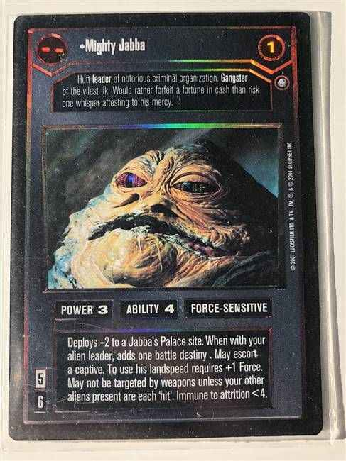 Star Wars CCG (SWCCG) Mighty Jabba (Foil)