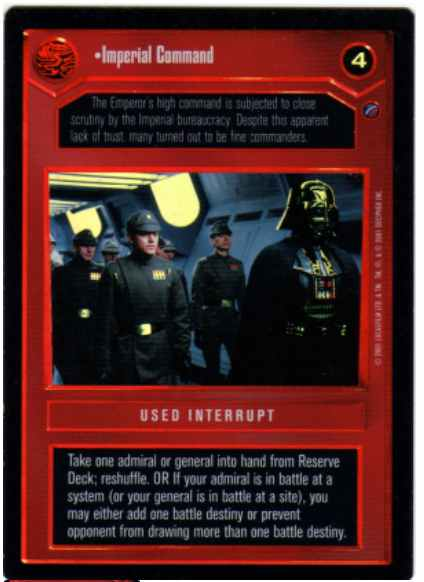 Star Wars CCG (SWCCG) Imperial Command (Foil)