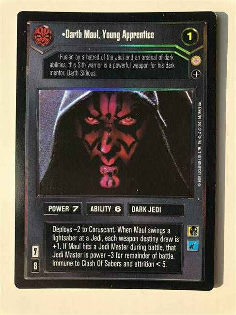 Star Wars CCG (SWCCG) Darth Maul, Young Apprentice (AI Foil)
