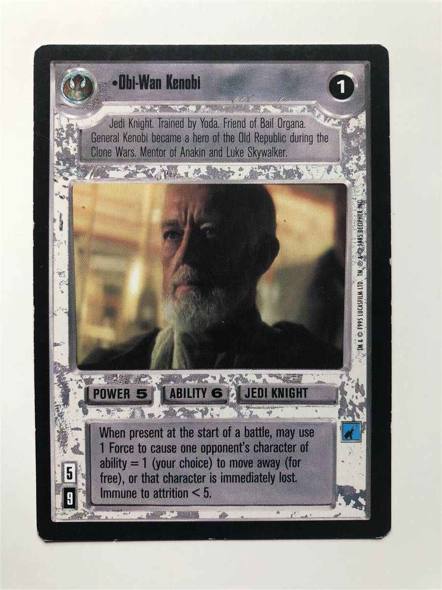 Star Wars CCG SWCCG Obi-Wan Kenobi Premiere Card Collection Cards Limited BB