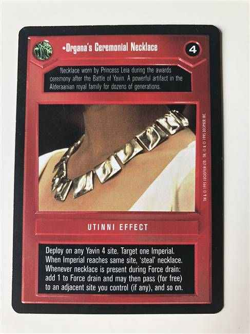 Star Wars CCG (SWCCG) Organa's Ceremonial Necklace