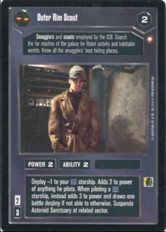 Star Wars CCG (SWCCG) Outer Rim Scout