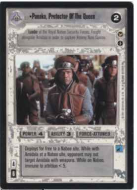 Star Wars CCG (SWCCG) Panaka, Protector Of The Queen