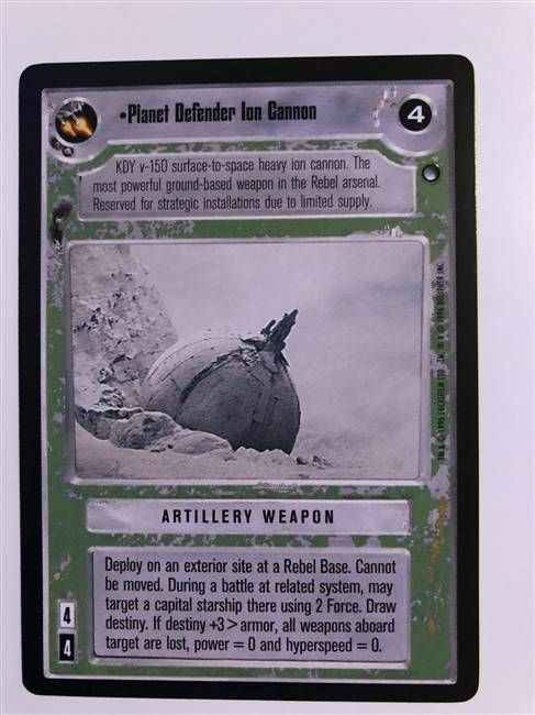 Star Wars CCG (SWCCG) Planet Defender Ion Cannon
