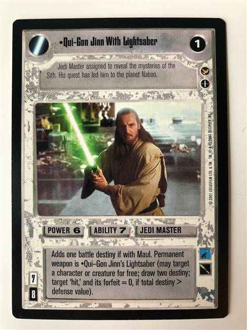 Star Wars CCG (SWCCG) Qui-Gon Jinn With Lightsaber